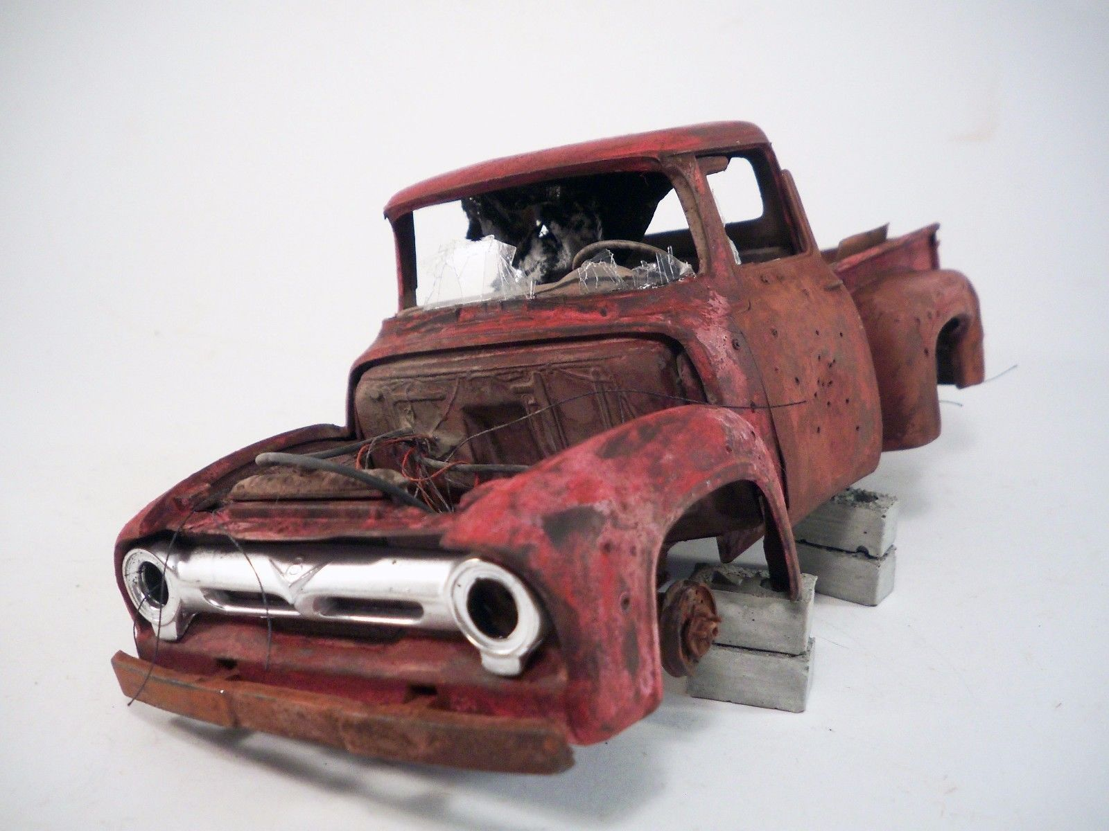 1956 Ford F-100 Pro Built Weathered Barn Find Pickup Truck Custom 1/25 Revell | eBay
