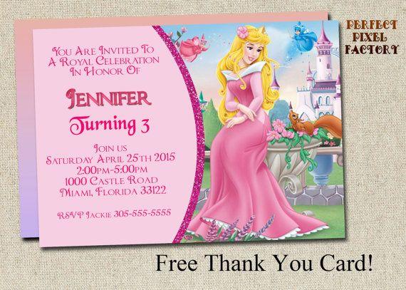 Sleeping Beauty Invitation Princess Invitation Princesses