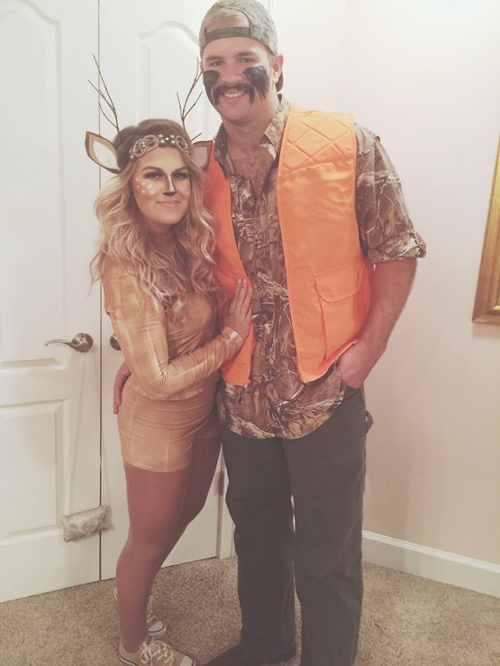 Jager Reh Kostum Selber Machen Cute Halloween Costumes Couple