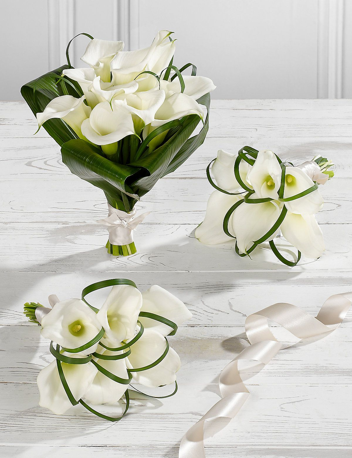 White Wedding Calla Lily Collection 1 | M&S | Wedding Bouquets ...