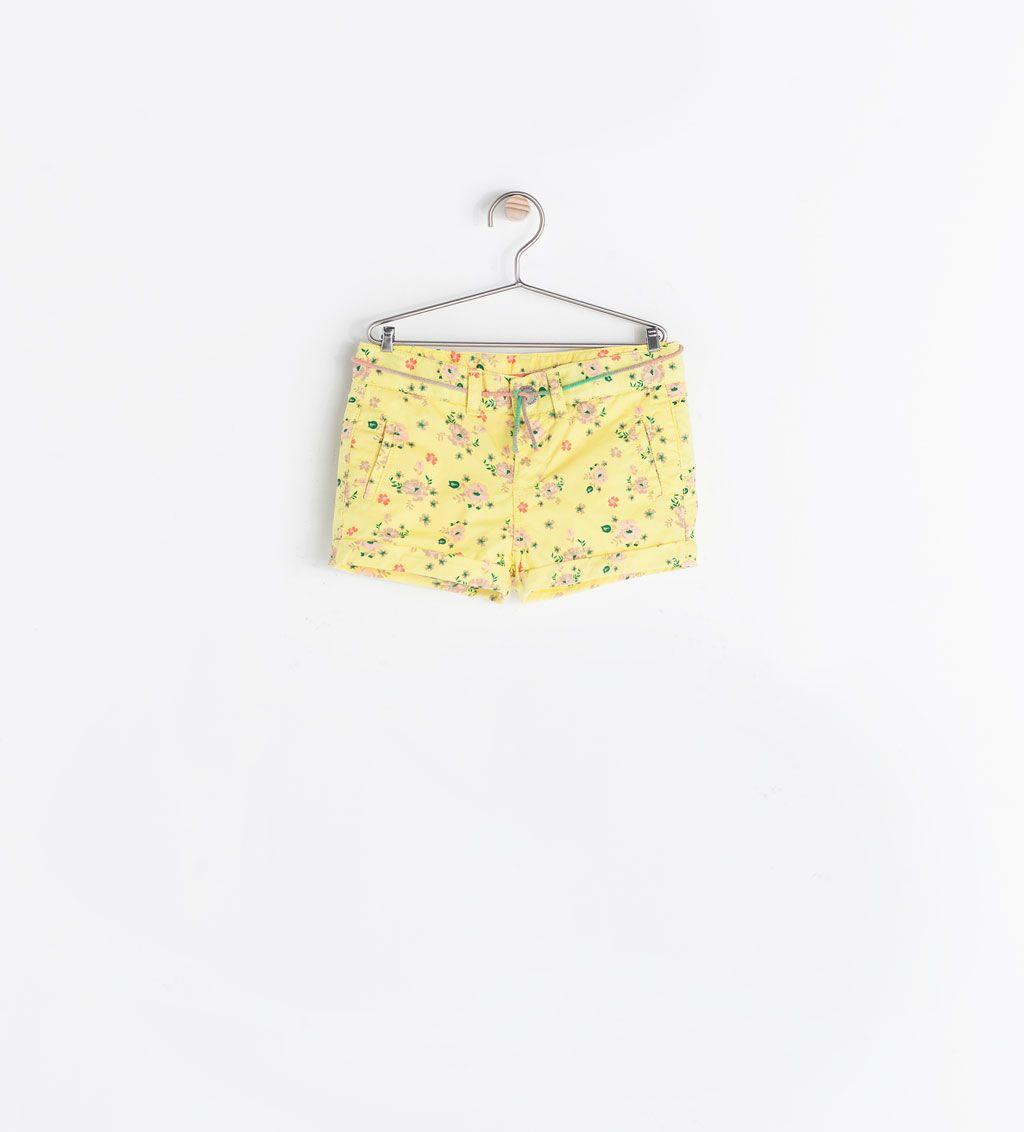 Image 1 of PRINTED DENIM SHORTS from Zara