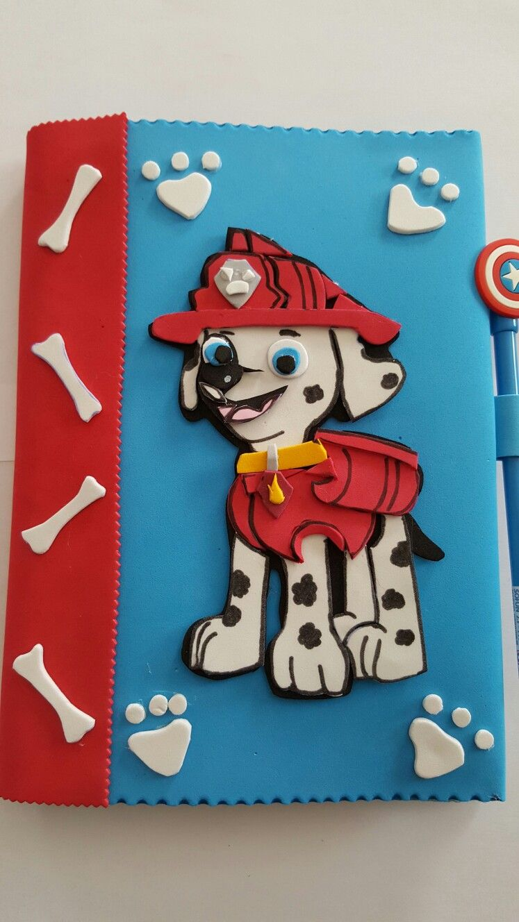 Cuaderno goma eva patrulla canina   cuadernos decorados foami ...