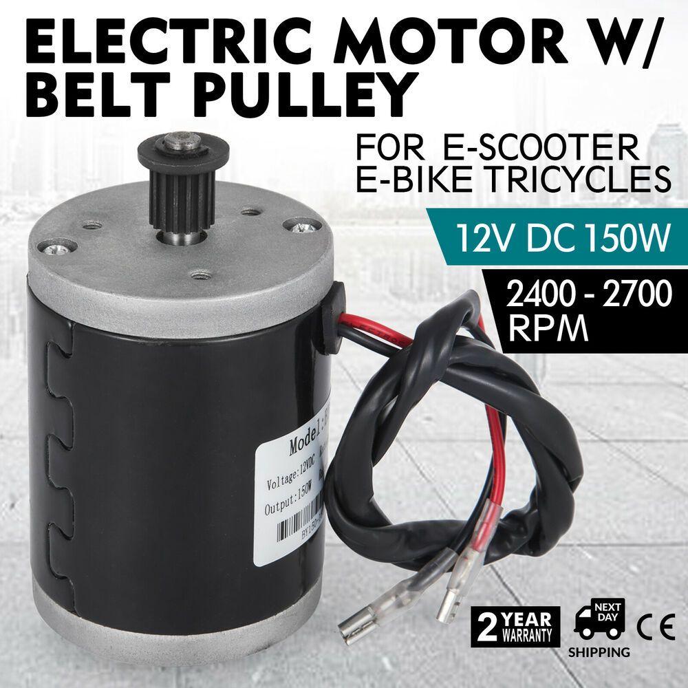 Advertisement(eBay) Electric Motor 12v DC Motor With Belt