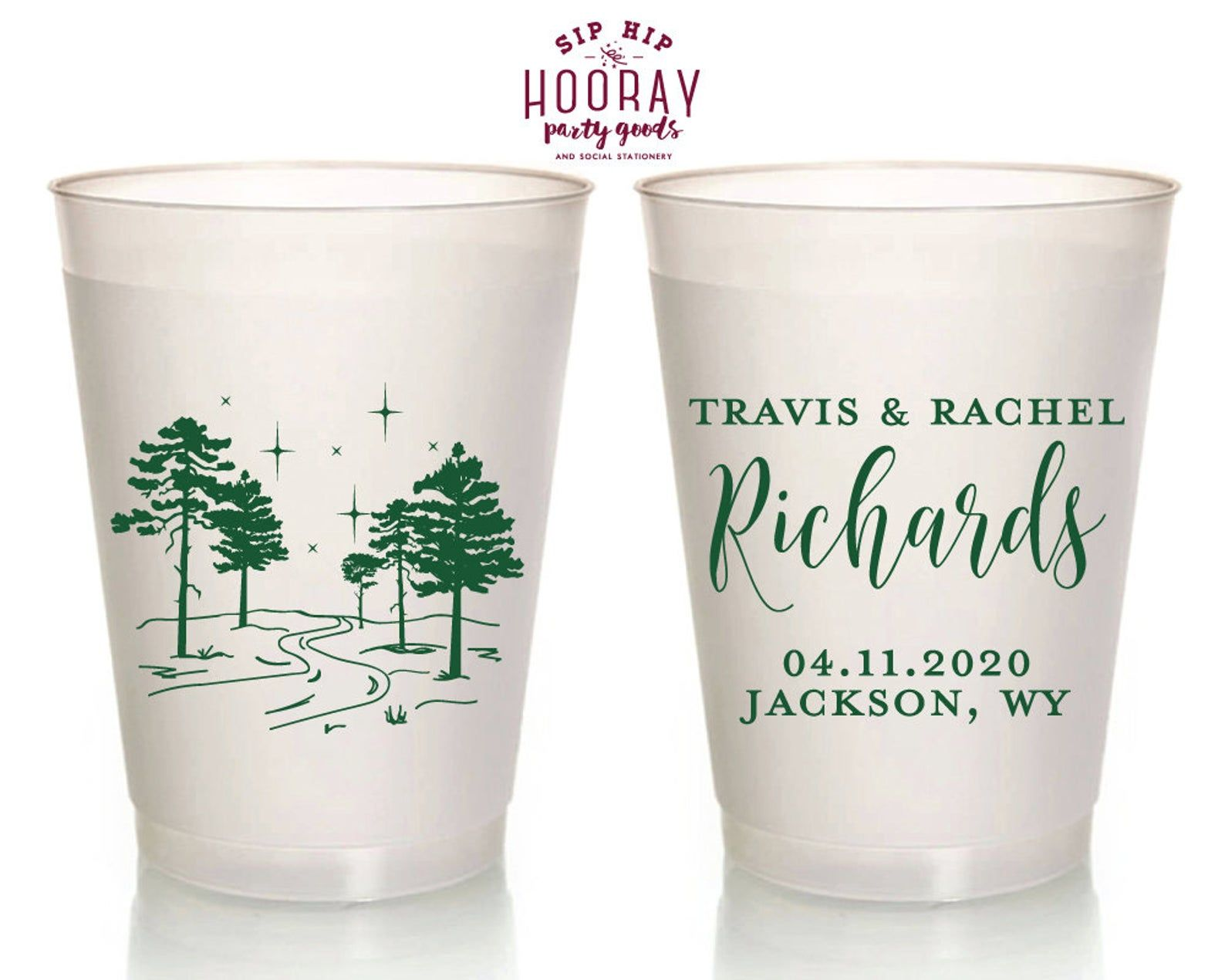 Personalized Frosted Wedding Cups Wedding Favor Cup Reusable Etsy In 2020 Cup Favors Wedding Frosted Wedding Cups Wedding Cups