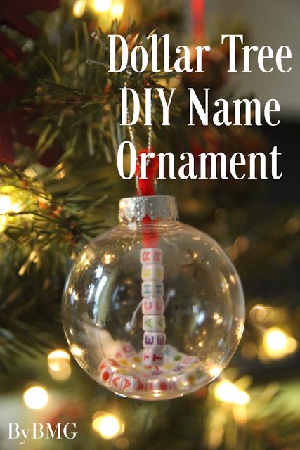 Dollar Tree DIY Name Ornament in 2020 Christmas