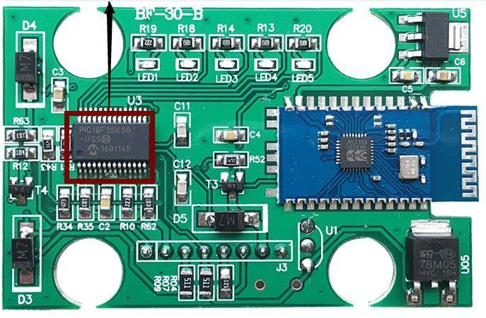 XuBa V01H2-1 V1.5 Nitro Obd2 Elm327 V2.1 PIC18F25K80 BT 2.0 Herramienta de esc/áner de diagn/óstico autom/ático de Coche ELM 327 Vcds checo KKL COM