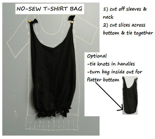 Easiest t-shirt bags ever!