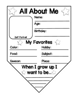 getting to know you preschool activities all about me bunting banner banners activities and students 808
