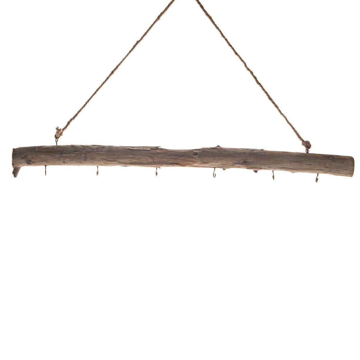Deze Houten Stok Heeft Een Lengte Van 78 Cm En Heeft 6 Metalen Haken Hang De Stok Op En Bedenk Zelf Wat Voor Decoratie Je Aan De Haken Hanger Decoratie Houten