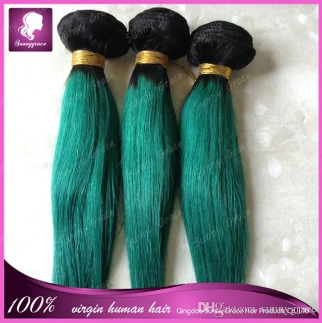 Curly Remy Hair Weave Sunnygrace Brazilian Ombre 1bgreen And Black