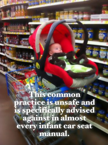 Think Twice About Putting Your Baby In A Shopping Cart Baby Car Seats Newborn Carseat Car Seats