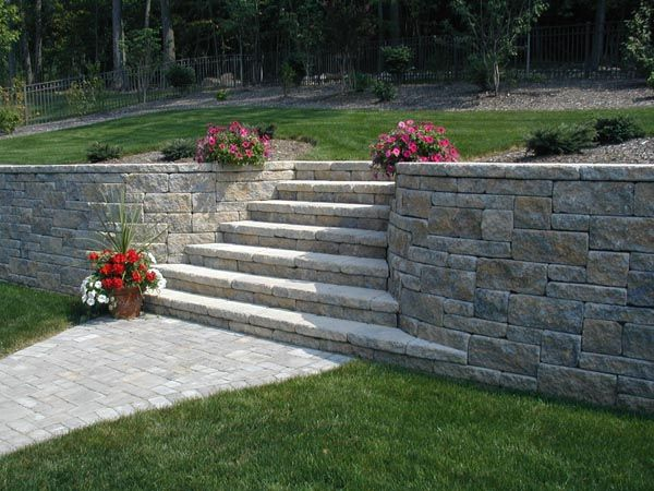 Allan Block Photo Gallery Project Ideas And More Landscaping Retaining Walls Garden Stairs Retaining Wall Steps