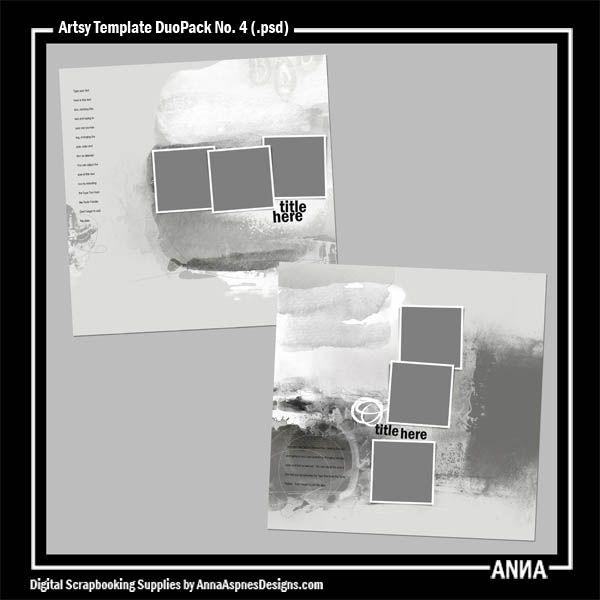 Artsy Template DuoPack No. 4