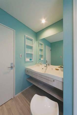 ティファニーブルー 洗面所 の画像検索結果 ハワイアンインテリア