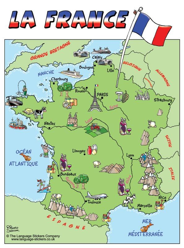 La France Map.Carte De La France Maps Of France Frankreich Franzosisch