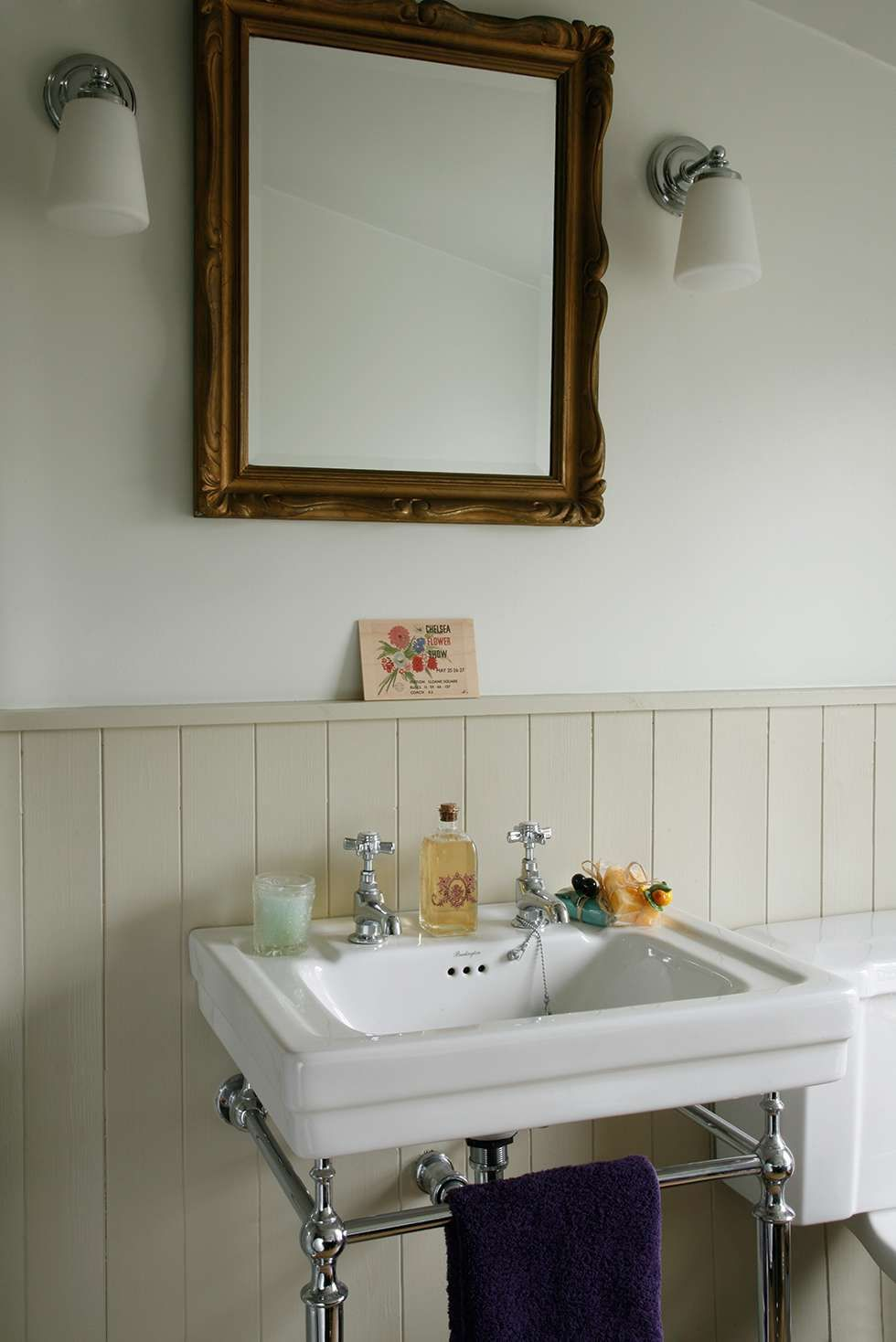 The Tongue And Groove Panelling Is Painted In Bone By