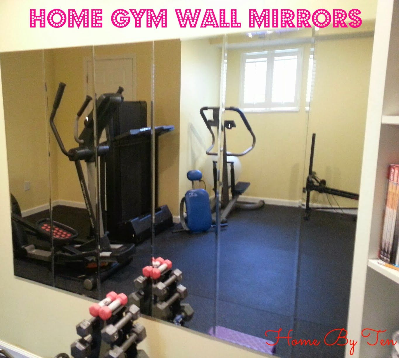 Home by ten cheap gym wall mirrors