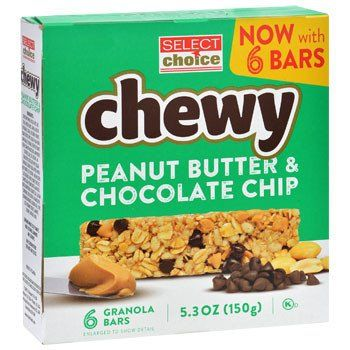 Select Choice Chewy Peanut Butter & Chocolate Chip Granola Bars, 6-ct. Box