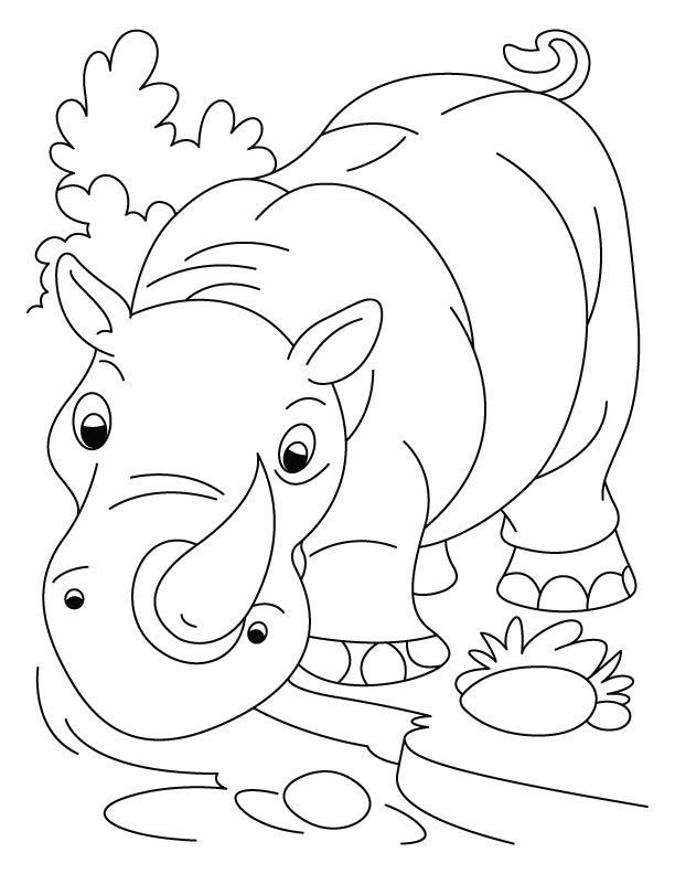 free printable Free Printable Rhinoceros Coloring Pages For Kids printable