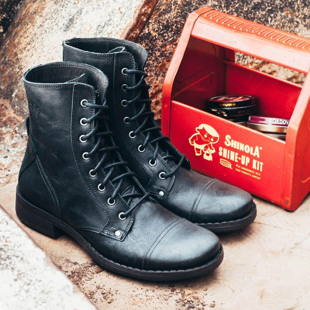 e983e512f Bota Black Boots Bm 100 Preta - Compre Online - Black Boots Botas De Couro  Masculinas