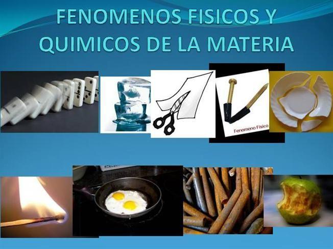 Fenomenos Fisicos Y Quimicos De La Materia Authorstream Quimica Fisica Fenomenos Quimicos