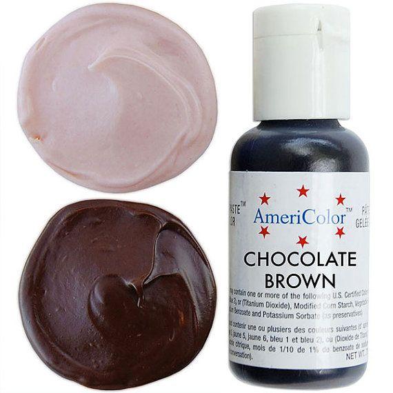 Americolor Chocolate Brown Gel Paste Food Color - high ...
