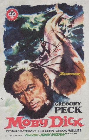 Moby Dick Gregory Peck cult movie poster print 1