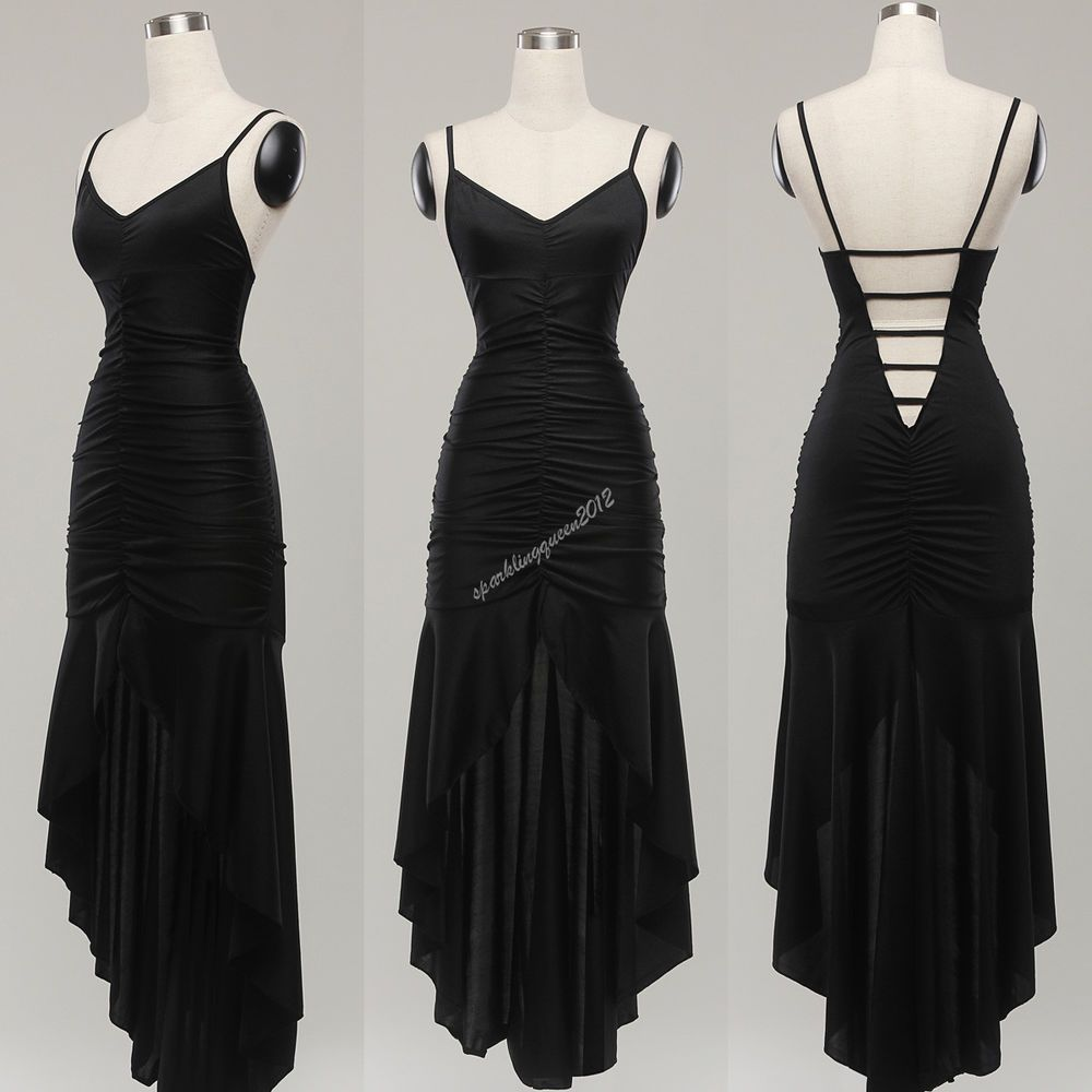 Black sexy evening cocktail prom long dress summer clubwear party