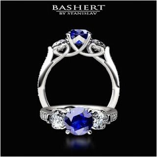 Blue Sapphire Engagement Ring by Gliy