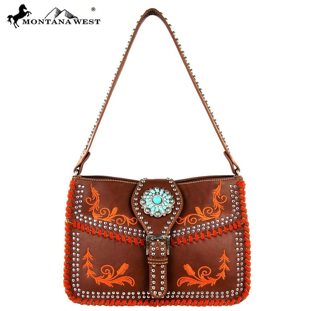 MW313-8269 Montana West Concho Collection Messenger Handbag
