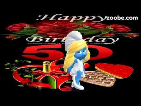Happy Birthday Alles Gute Zum 50 Geburtstag Schlumpfe