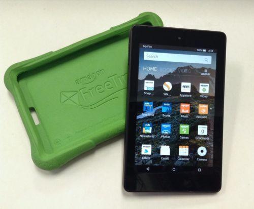 Amazon Kindle Fire HD 6 Kids Edition 8GB Wi-Fi, Green Bumper