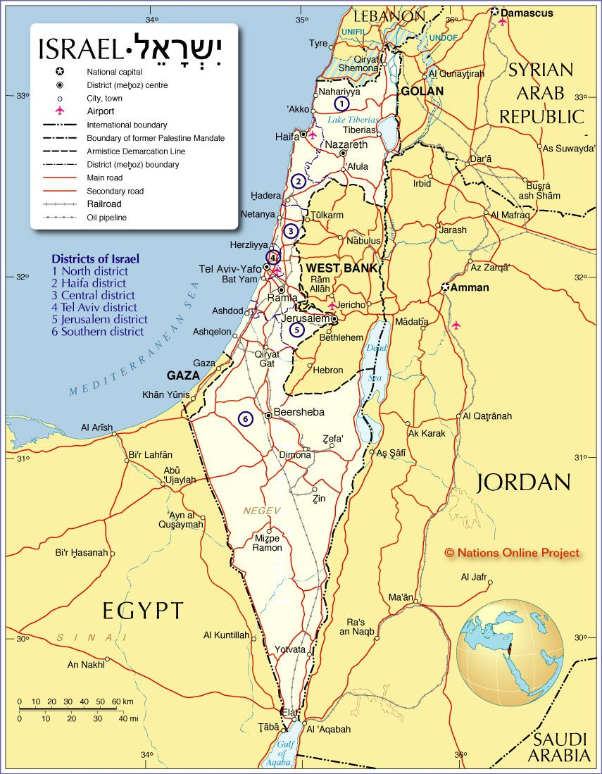 map of israel and surrounding countries Political Map of Israel