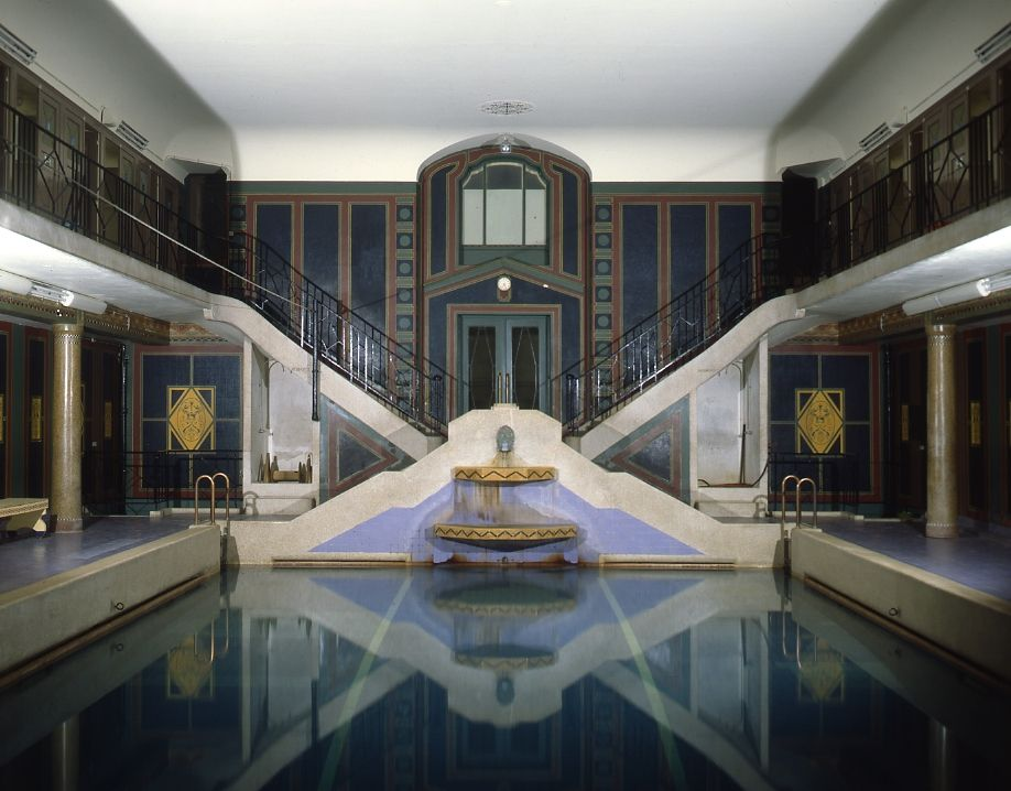 art deco swimming pool from 1928 at r sidence palace brussels belgium la piscine du r sidence. Black Bedroom Furniture Sets. Home Design Ideas