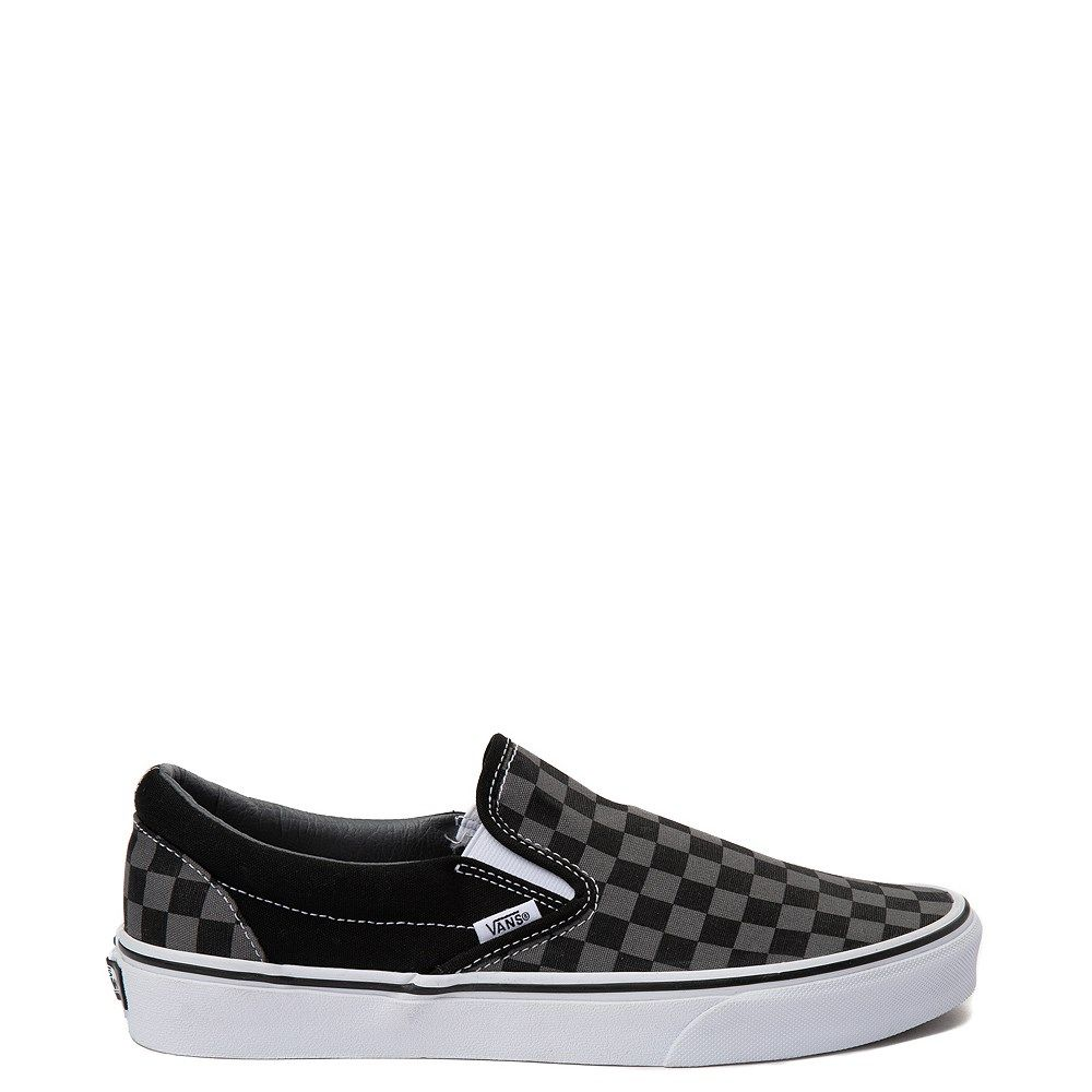 Vans Slip On Checkerboard Skate Shoe - Gray / Black in 2020 ...
