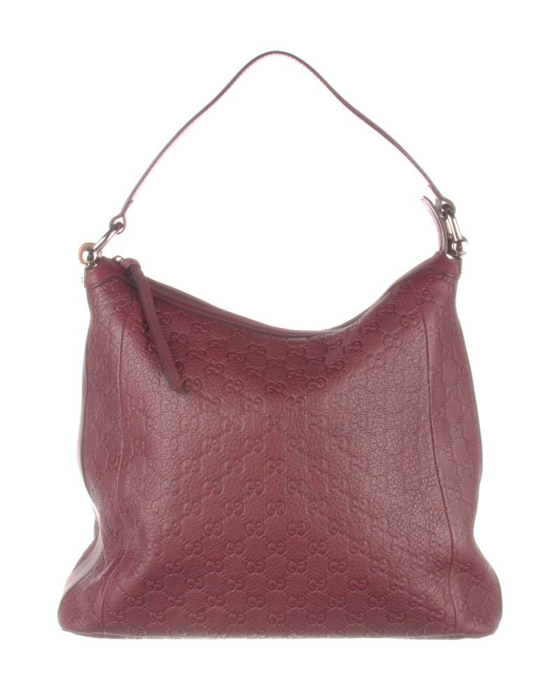 0dc206bede2b GUCCI Burgundy Guccissima Leather Bamboo D-Ring Hobo Bag  fashion  clothing   shoes