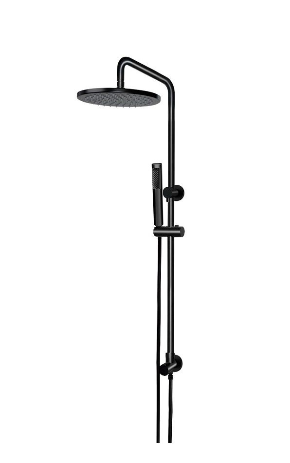 Round 2-in-1 Matte Black Shower Rail Set (MZ0704)   Pinterest ...