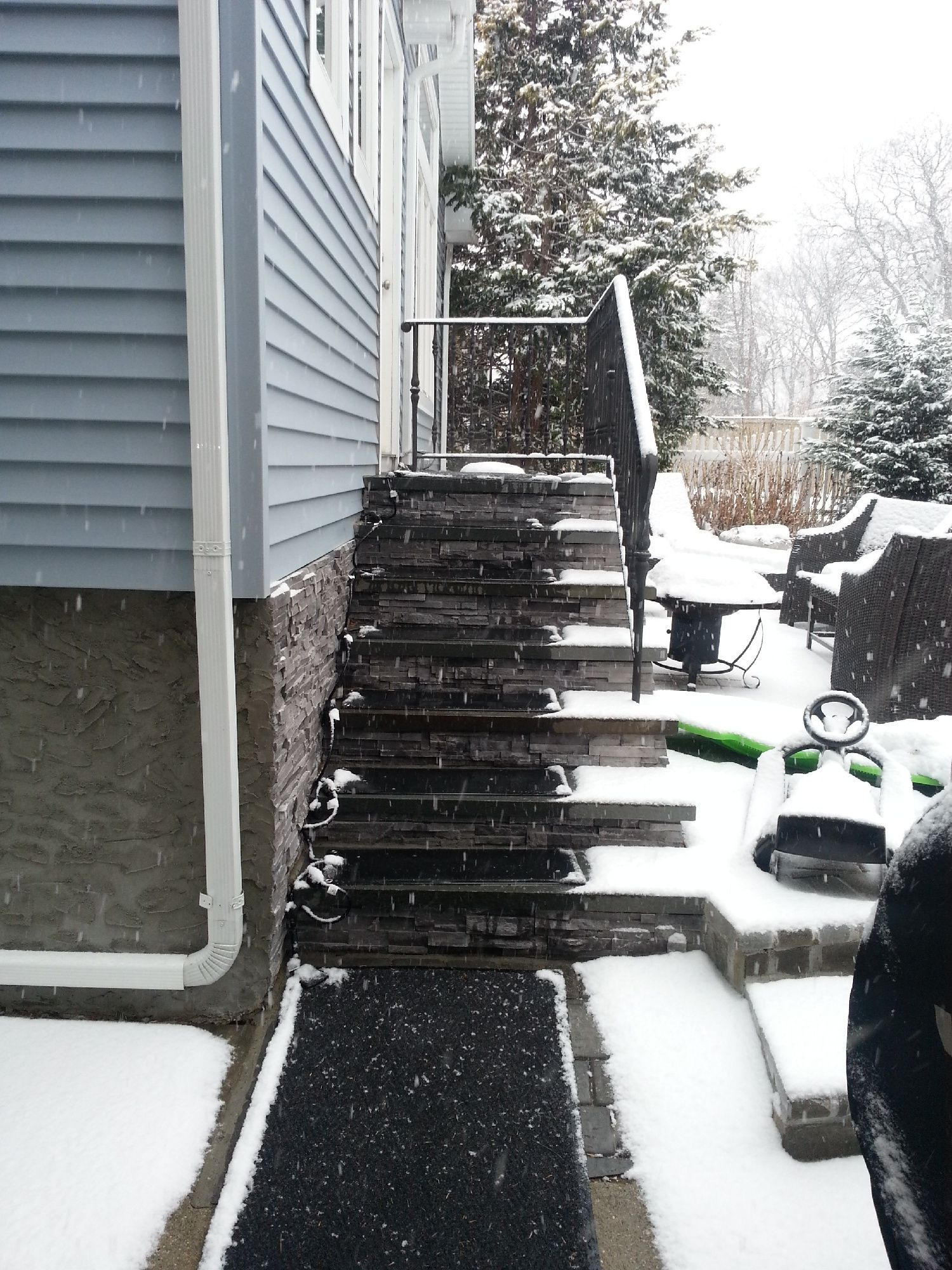The Heattrak Homeowner Blog A Guide To Snow Removal Snow Melting Mats Home Maintenance Outdoor Stairs Snow Removal Snow Melting Mats