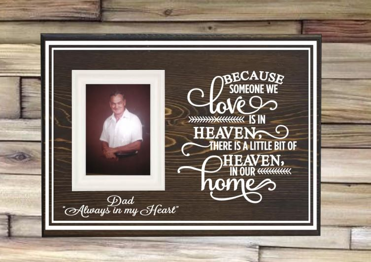 Memory Picture Frame Memorial Picture Frame Because Someone We Love Is In Heaven Memorial Picture Frame Memo Memory Pictures Memory Frame Frame