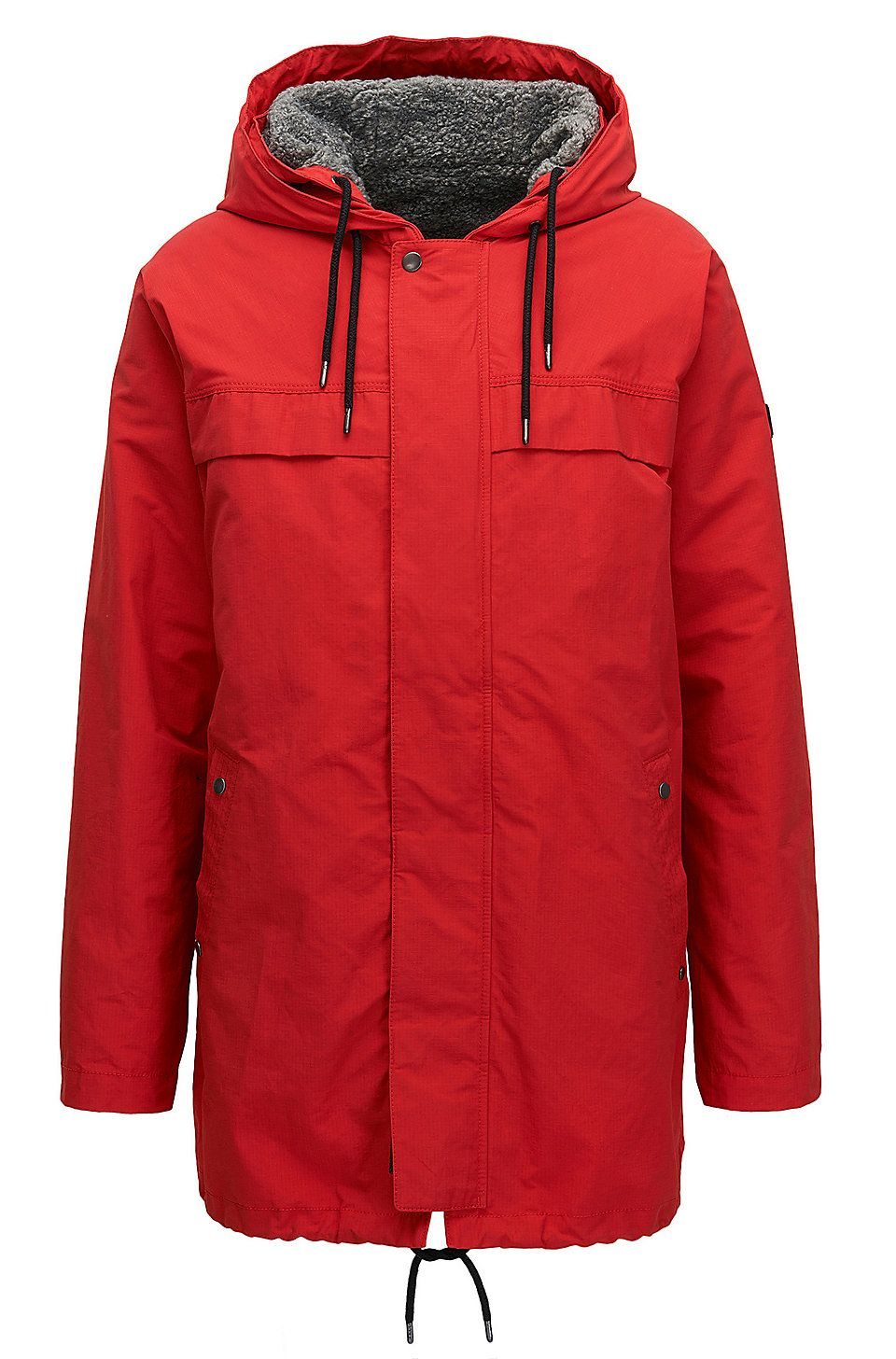 Hugo Boss Relaxed Fit Jacket In A Technical Cotton Blend Red Parkas From Boss For Men In The Official Hugo Boss Online Store Workout Jacket Jackets Hugo Boss [ 1456 x 960 Pixel ]