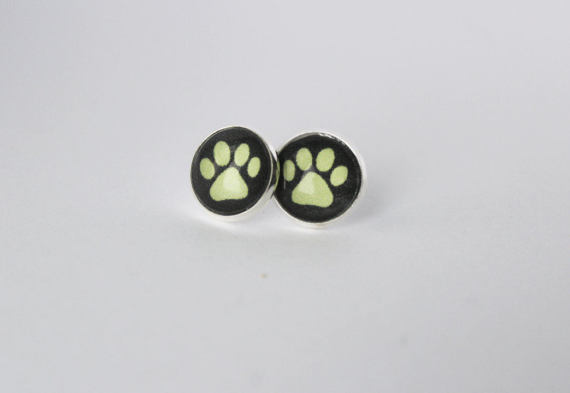 Chat Noir Earrings Cat Noir Ring Cat Silver Stud Earring