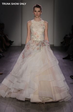 lazaro - high neck ball gown in organza | ropa | vestidos de novia