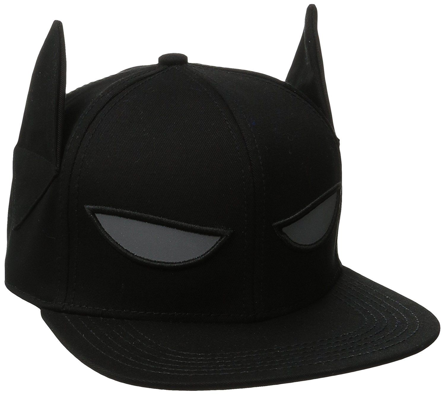 4e808765 Batman Men's 3D Ear and Reflective Eyes Flat Brim Cap, Black, One Size:  Amazon.in: Clothing & Accessories