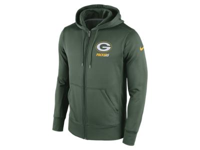 314c0c792 Nike Sideline KO Fleece Full-Zip (NFL Packers) Men s Training Hoodie ...