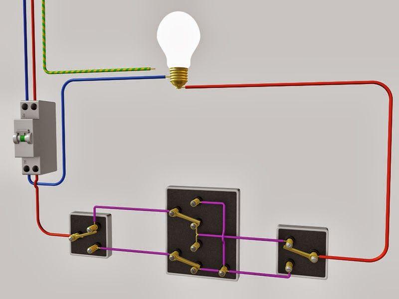 Schema D Installation Va Et Vient 3 Interrupteurs Schema D Installation Va Et Vient 3 Interrup Electricite Schema Installation Electrique Maison Interrupteurs