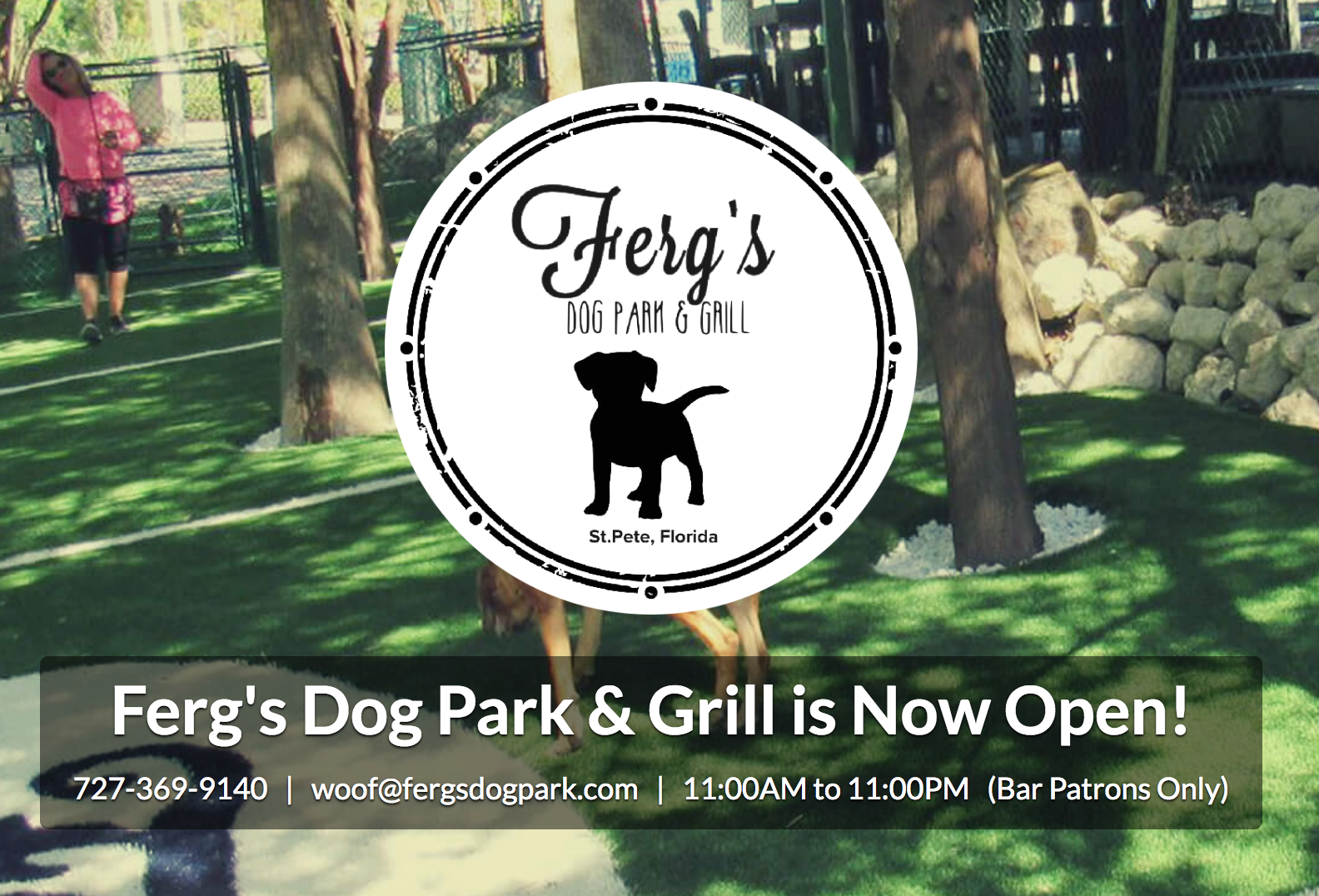 Ferg S Dog Park Grill Is A Popular Dog Friendly Restaurant And Bar In Downtown St Petersburg It Has Its Own Dog Park Where Dog Park Dog Beach Dog Friends