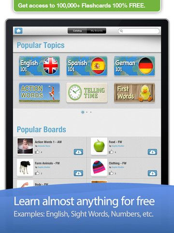 Bitsboard for the iPad access to over 100,000 Flashcards