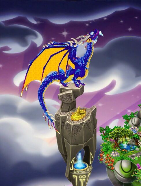 My DragonVale Park  Kairos Dragon on his perch  :) If You
