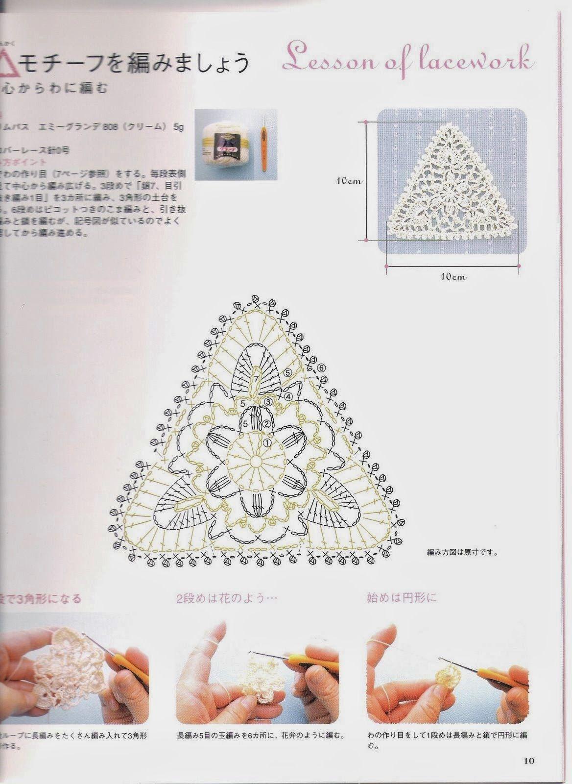 Triángulo de la sandalia. | Вязание | Pinterest | Patrón del ...