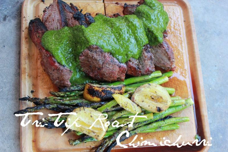 Tri-Tip Roast with Chimichurri Sauce / Barbecue & Grilling / iChef.social